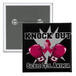 Knock Out Sickle Cell Anaemia Pinback Buttons
