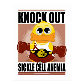 Knock Out Sickle Cell Anemia Postcard