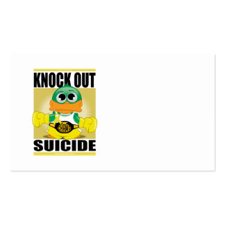 Knock Out Suicide Business Card Templates
