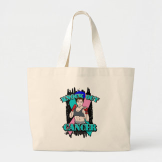 Knock Out Thyroid Cancer Jumbo Tote Bag
