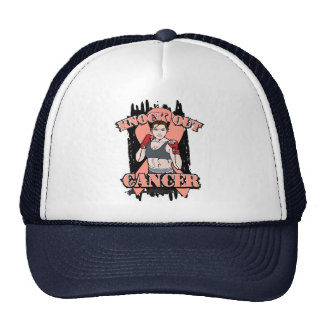 Knock Out Uterine Cancer Trucker Hats