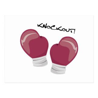Knockout Gloves Postcard