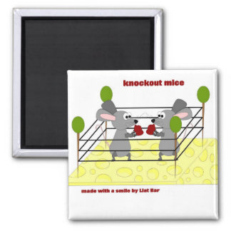 knockout mice square magnet