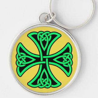 Knot Cross Premium Round Keychain
