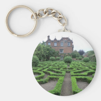 Knot Garden at Old Moseley Hall Basic Round Button Key Ring