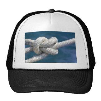 Knot in rope cap
