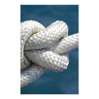 Knot in rope stationery design