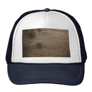 Knot in wood trucker hat