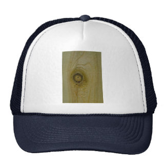 Knot in wood trucker hats