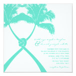 Knot Palm Trees Beach Tropical Wedding Modern Chic Personalised Invites