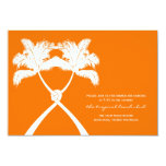 Knot Palm Trees Beach Tropical Wedding Modern Chic Personalized Invitations