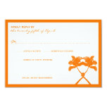 Knot Palm Trees Beach Tropical Wedding Modern Chic Personalized Announcements