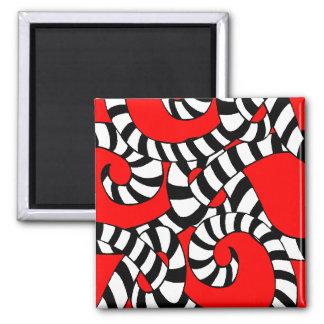 Knots Square Magnet