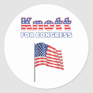 Knott for Congress Patriotic American Flag Round Stickers