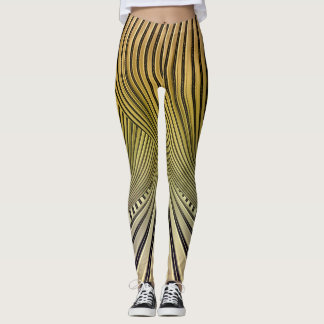 KNOTTED GOLD LEGGINGS
