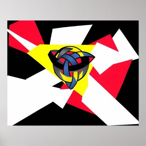 """Knotted World"" Fine Art Print Black"