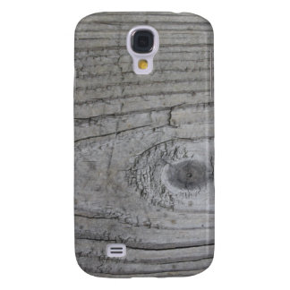 Knotty Grey Wood Texture Samsung Galaxy S4 Cover
