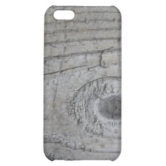 Knotty Grey Wood Texture iPhone 5C Case