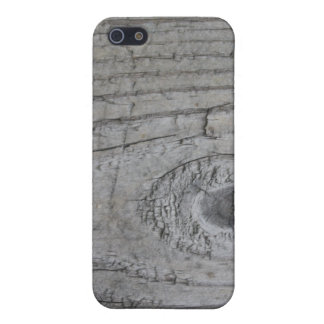 Knotty Grey Wood Texture iPhone 5 Cases