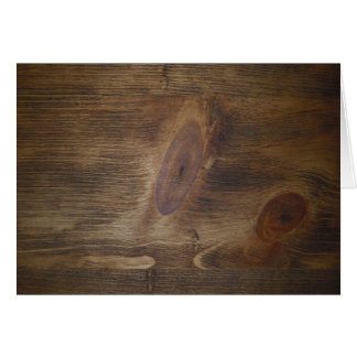 Knotty Notes Brown Rustic Wood Stationery