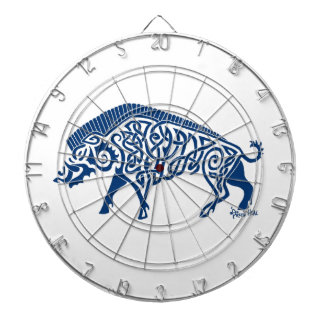 Knotwork Boar, Blue Dartboard