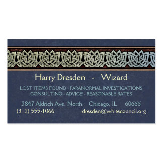 Knotwork Border Business Cards Style D