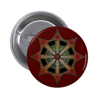 Knotwork Chaos Star Button