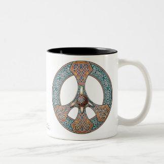 Knotwork Peace Sign Mug