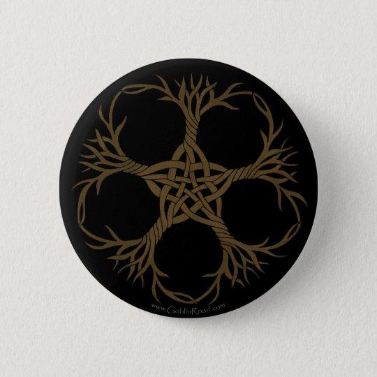 Knotwork Vines 6 Cm Round Badge
