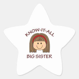 KNOW IT ALL BIG SISTER STAR STICKER