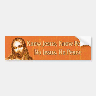 Know Jesus Bumper Sticker