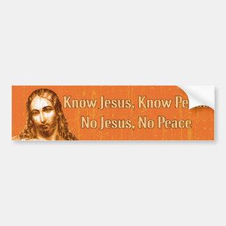 Know Jesus Car Bumper Sticker