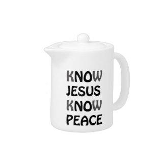 Know Jesus Know Peace No Jesus No Peace Black Font