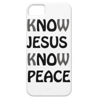 Know Jesus Know Peace No Jesus No Peace Black Font Case For The iPhone 5