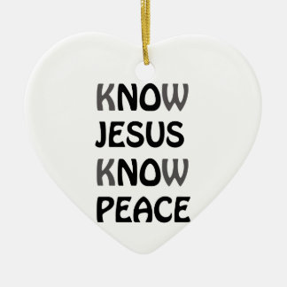 Know Jesus Know Peace No Jesus No Peace Black Font Christmas Ornament
