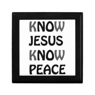 Know Jesus Know Peace No Jesus No Peace Black Font Gift Box