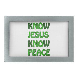 Know Jesus Know Peace No Jesus No Peace Dark Green Belt Buckles