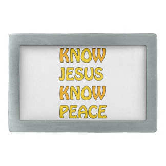 Know Jesus Know Peace No Jesus No Peace In A Orang Belt Buckle
