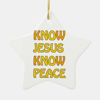 Know Jesus Know Peace No Jesus No Peace In A Orang Christmas Ornament