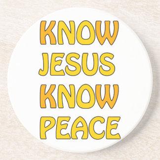 Know Jesus Know Peace No Jesus No Peace In A Orang Coaster