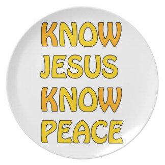 Know Jesus Know Peace No Jesus No Peace In A Orang Plate