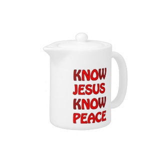 Know Jesus Know Peace No Jesus No Peace In A Red