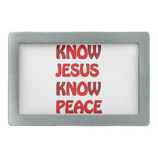 Know Jesus Know Peace No Jesus No Peace In A Red Belt Buckle