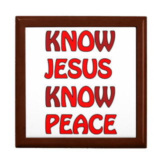 Know Jesus Know Peace No Jesus No Peace In A Red Gift Box