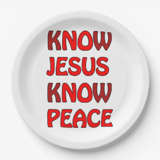 Know Jesus Know Peace No Jesus No Peace In A Red Paper Plate