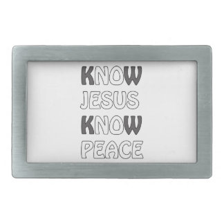 Know Jesus Know Peace No Jesus No Peace In A White Belt Buckle