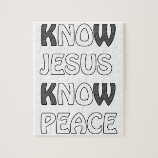 Know Jesus Know Peace No Jesus No Peace In A White Jigsaw Puzzle