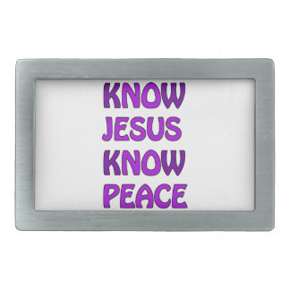 Know Jesus Know Peace No Jesus No Peace In Purple Belt Buckles