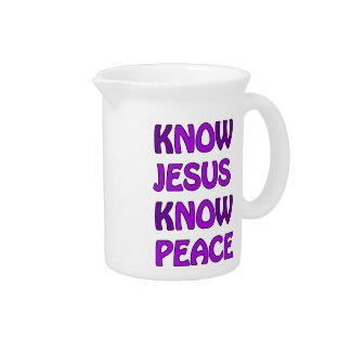 Know Jesus Know Peace No Jesus No Peace In Purple Pitcher