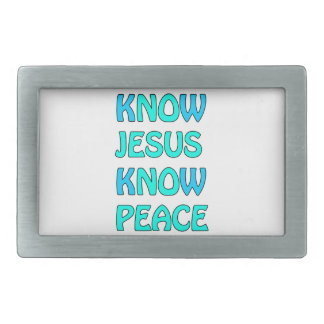 Know Jesus Know  Peace No Jesus No Peace Light Blu Belt Buckle